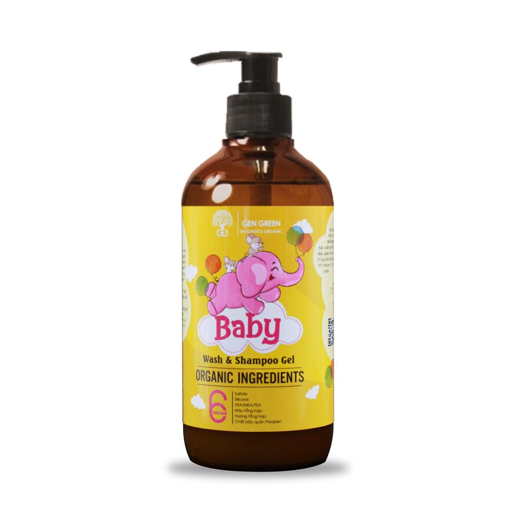 Tắm gội dành cho trẻ sơ sinh BABY WASH AND SHAMPOO GEL