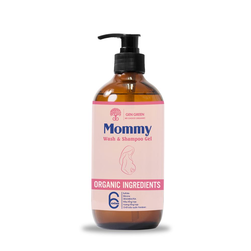 Tắm gội dành cho Mẹ bầu và Mẹ sau sinh MOMMY WASH AND SHAMPOO GEL