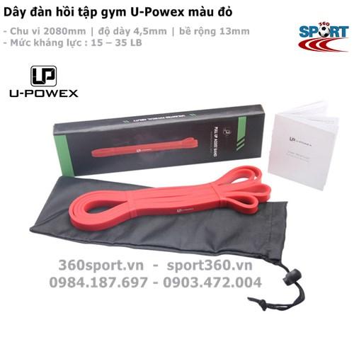 Dây đàn hồi tập gym U-Powex màu đỏ