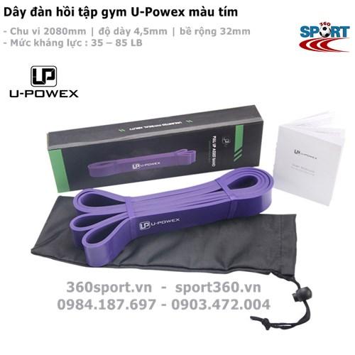 Dây đàn hồi tập gym U-Powex màu tím