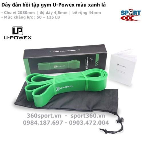 Dây đàn hồi tập gym U-Powex màu xanh lá