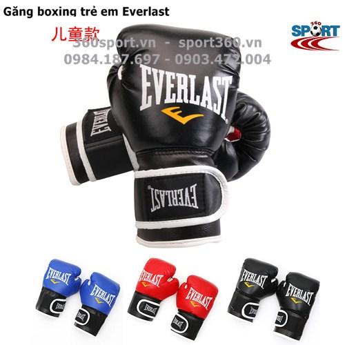 Găng đấm boxing trẻ em Everlast màu đen