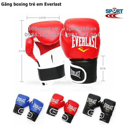 Găng đấm boxing trẻ em Everlast màu đỏ