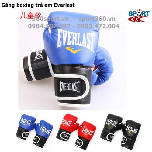 Găng đấm boxing trẻ em Everlast màu xanh