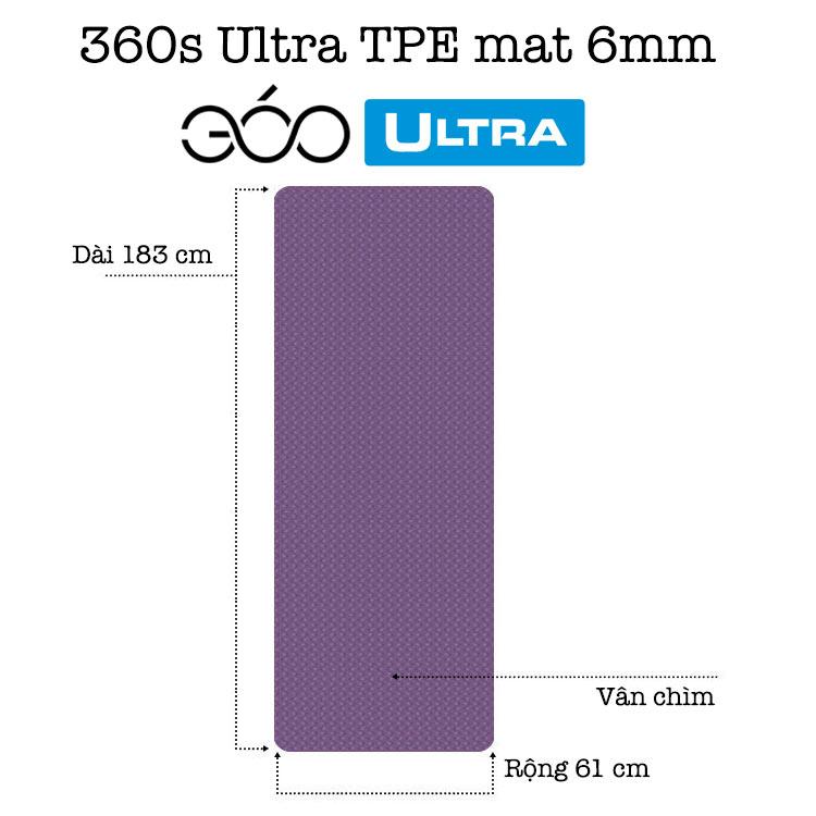 Thảm tập Yoga TPE dày 6mm có kích thước tiêu chuẩn