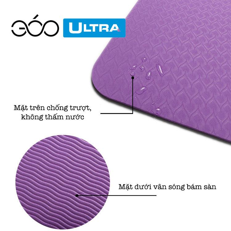 Thảm tập Yoga TPE dày 6mm chống nước