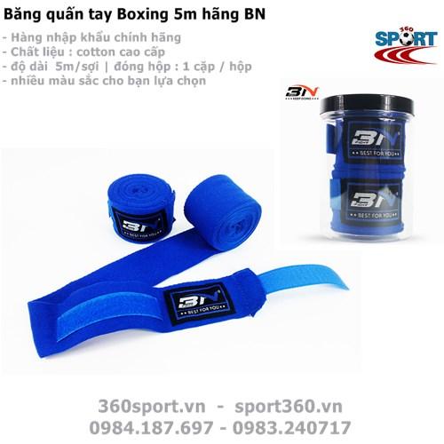 Băng quấn tay Boxing 5m màu xanh
