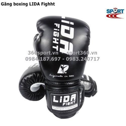 Găng tay boxing LIDA Fighht màu đen