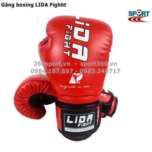 Găng tay boxing LIDA Fighht màu đỏ