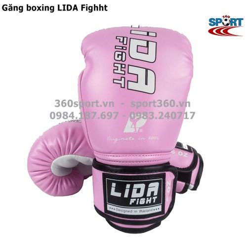 Găng tay boxing LIDA Fighht màu hồng