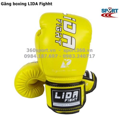 Găng tay boxing LIDA Fighht màu vàng