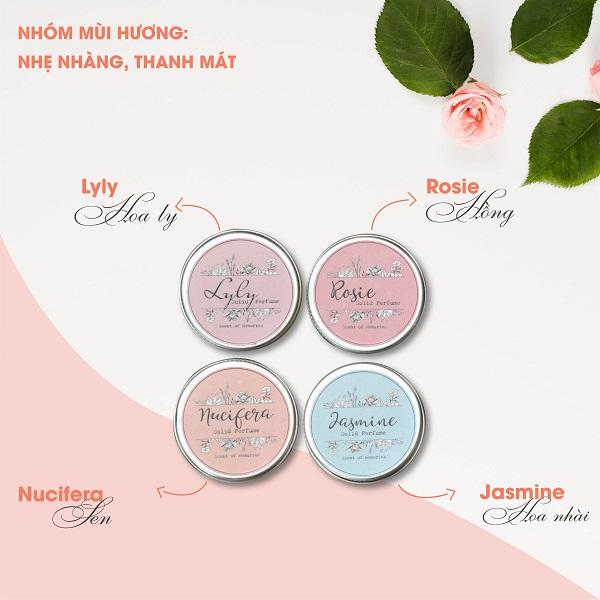 Nước hoa khô nhỏ xinh 100% KHÔNG CỒN có tác dụng tạo mùi thơm và dưỡng da
