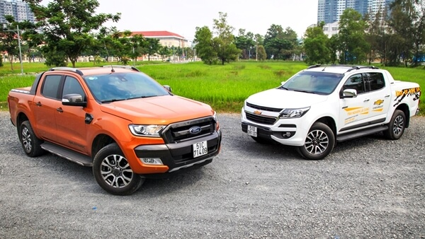 So sánh xe Ford Ranger Wildtrak 2019 mới và Chevrolet Colorado High Country