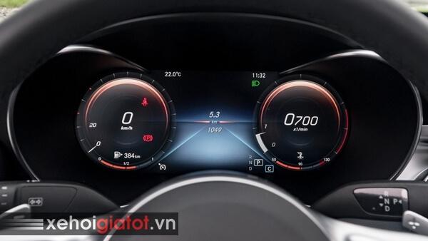 Đồng hồ trung tâm xe Mercedes C-Class