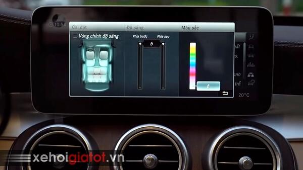 Hệ thống đèn viền nội thất xe Mercedes C-Class