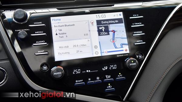 Màn hình giải trí xe Toyota Camry