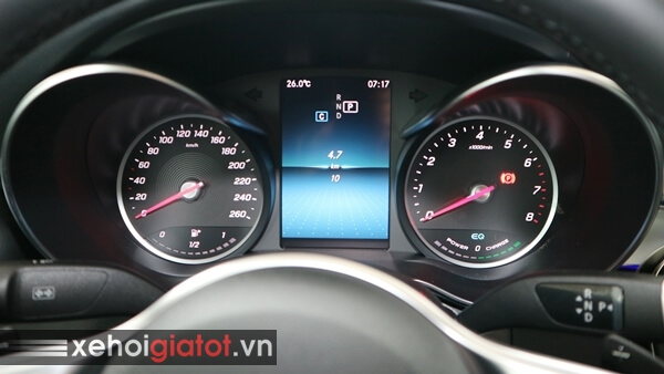 Cụm đồng hồ trung tâm xe Mercedes C200