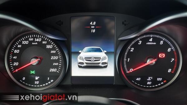 Cụm đồng hồ trung tâm xe Mercedes C300 Coupe