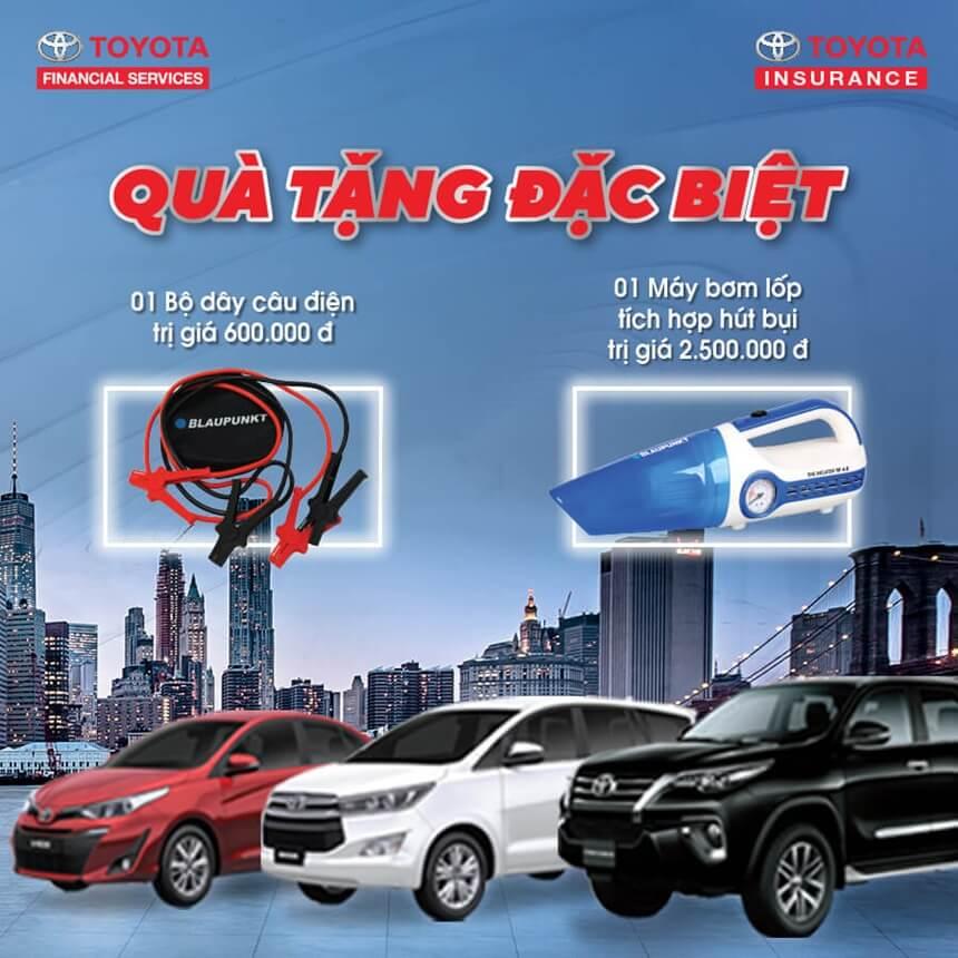 Toyota khuyến mại quà tặng đặc biệt