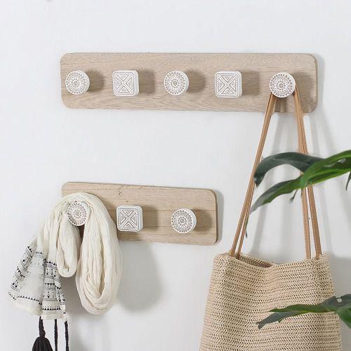 Bộ 2 móc treo tường bằng gỗ