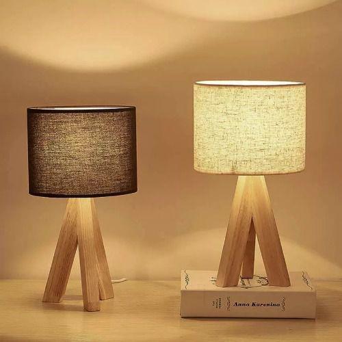 Đèn trang trí để bàn bằng gỗ