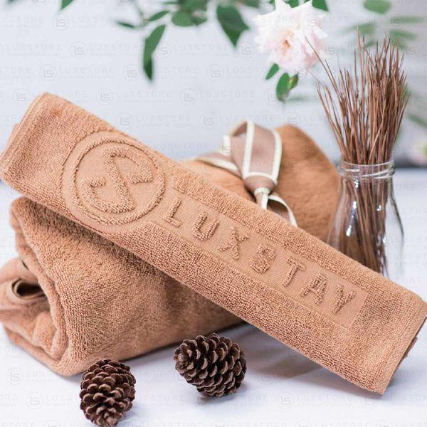 Khăn tắm nâu Luxstay