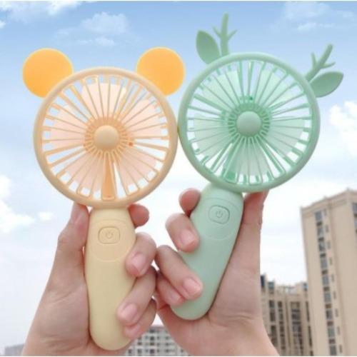 Quạt Cầm Tay Mini Pin Sạc Có Đế Để Bàn Siêu Cute Nhiều hình đáng yêu