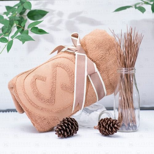 Set 10 khăn tắm nâu Luxstay