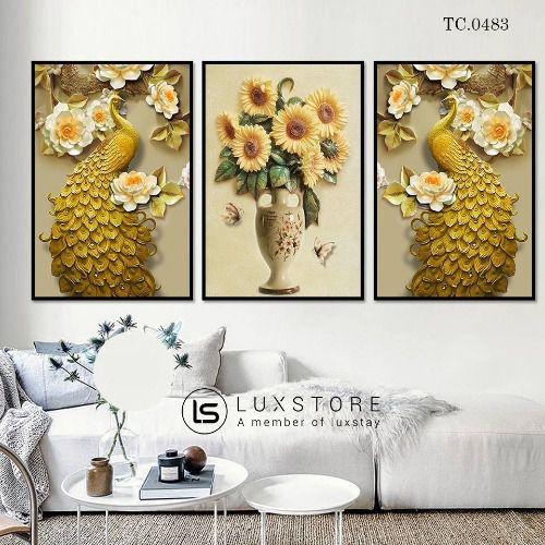Tranh hoa cúc nghệ thuật TC.0483