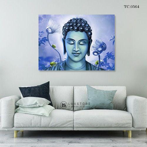 Tranh Đức Phật Cùng Sen TC.0564