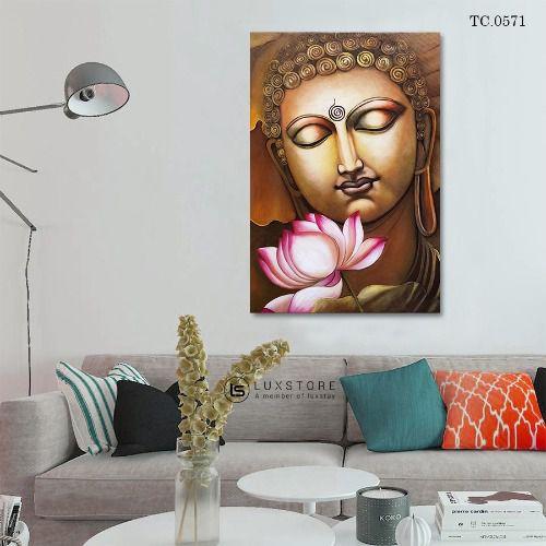 Tranh Đức Phật Cùng Sen TC.0571