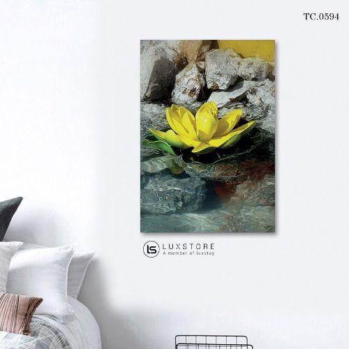 Tranh Canvas Sen Vàng Nghệ Thuật TC.0594