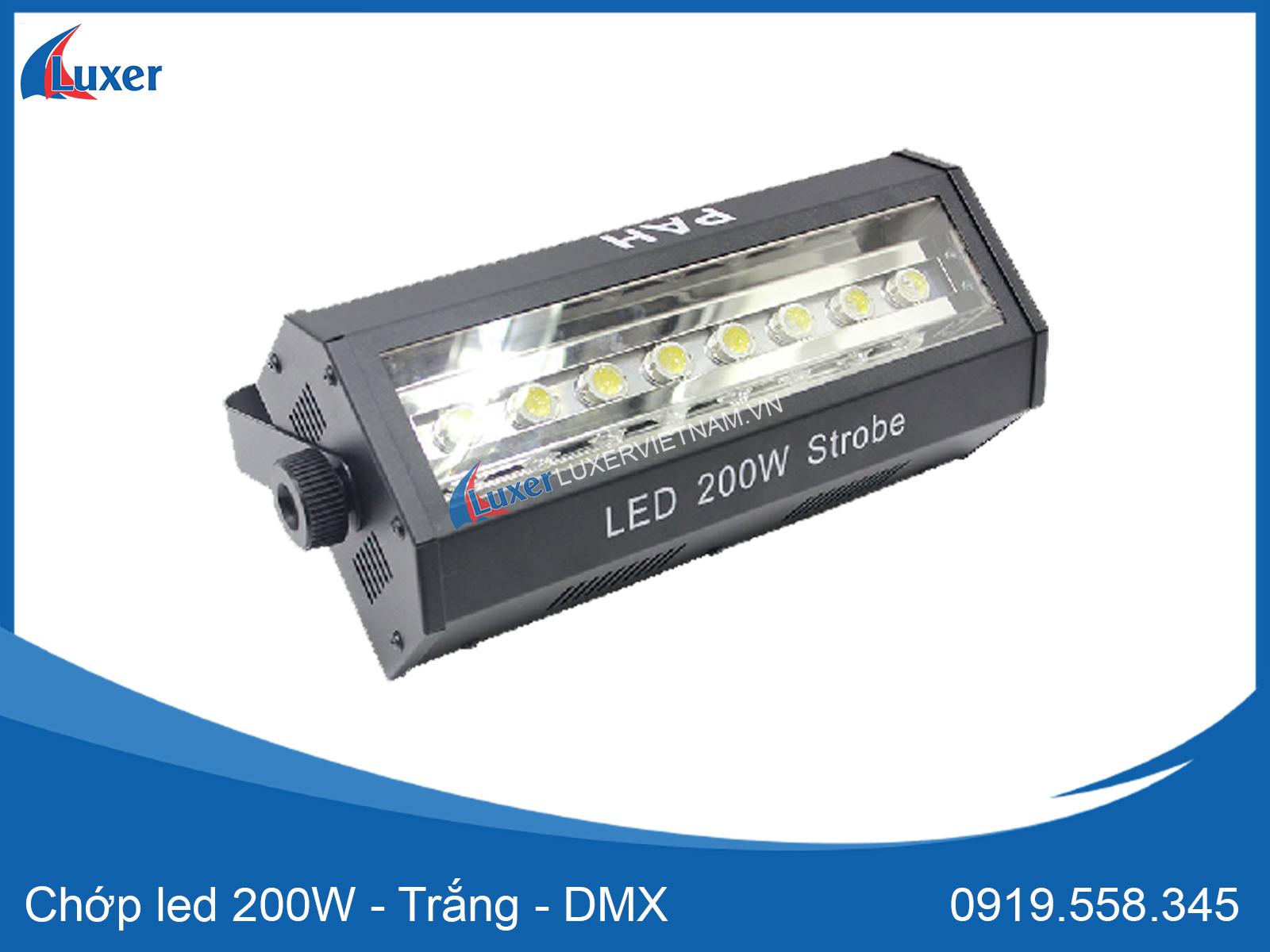 Chớp led 200W - Trắng - DMX