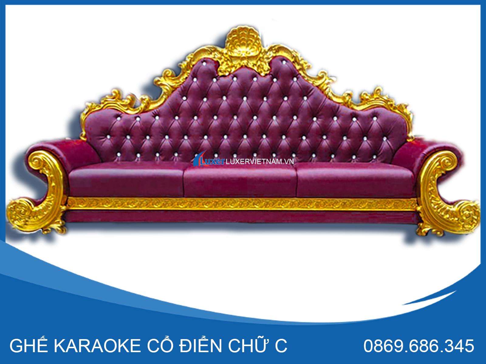 Ghế karaoke cổ điển chữ C Luxer