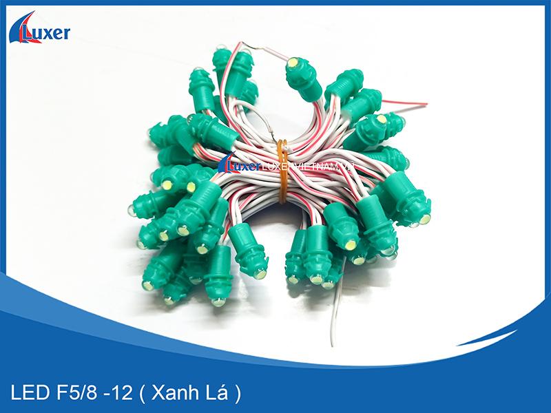 Bóng LED F5/8 - 12V ( Xanh Lá )