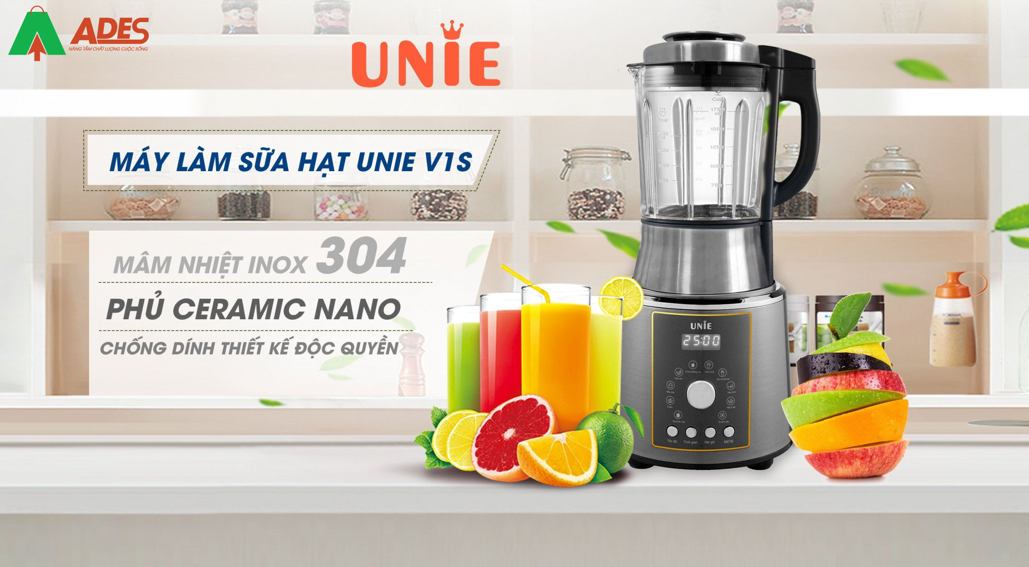 May lam sua hat Unie V1S