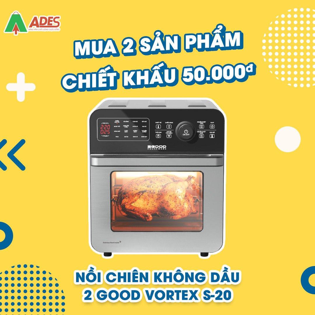 Noi Chien Khong Dau 2Good Vortex S20 khuyen mai lon