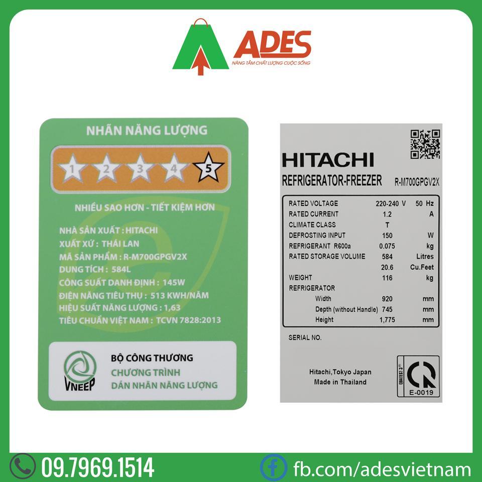 Tu lanh Hitachi Inverter R-M700GPGV2X