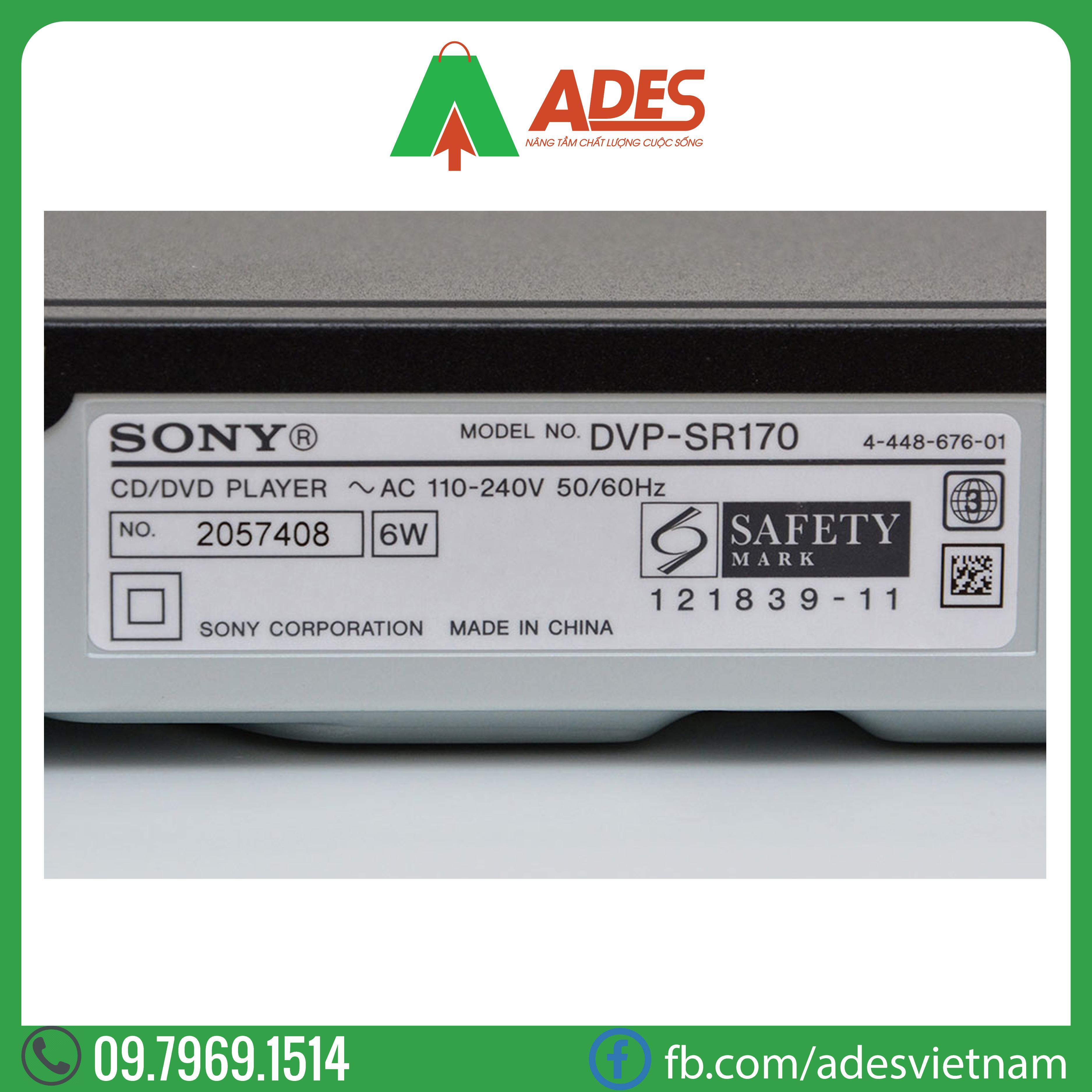 dau dia DVD Sony DVP-SR170