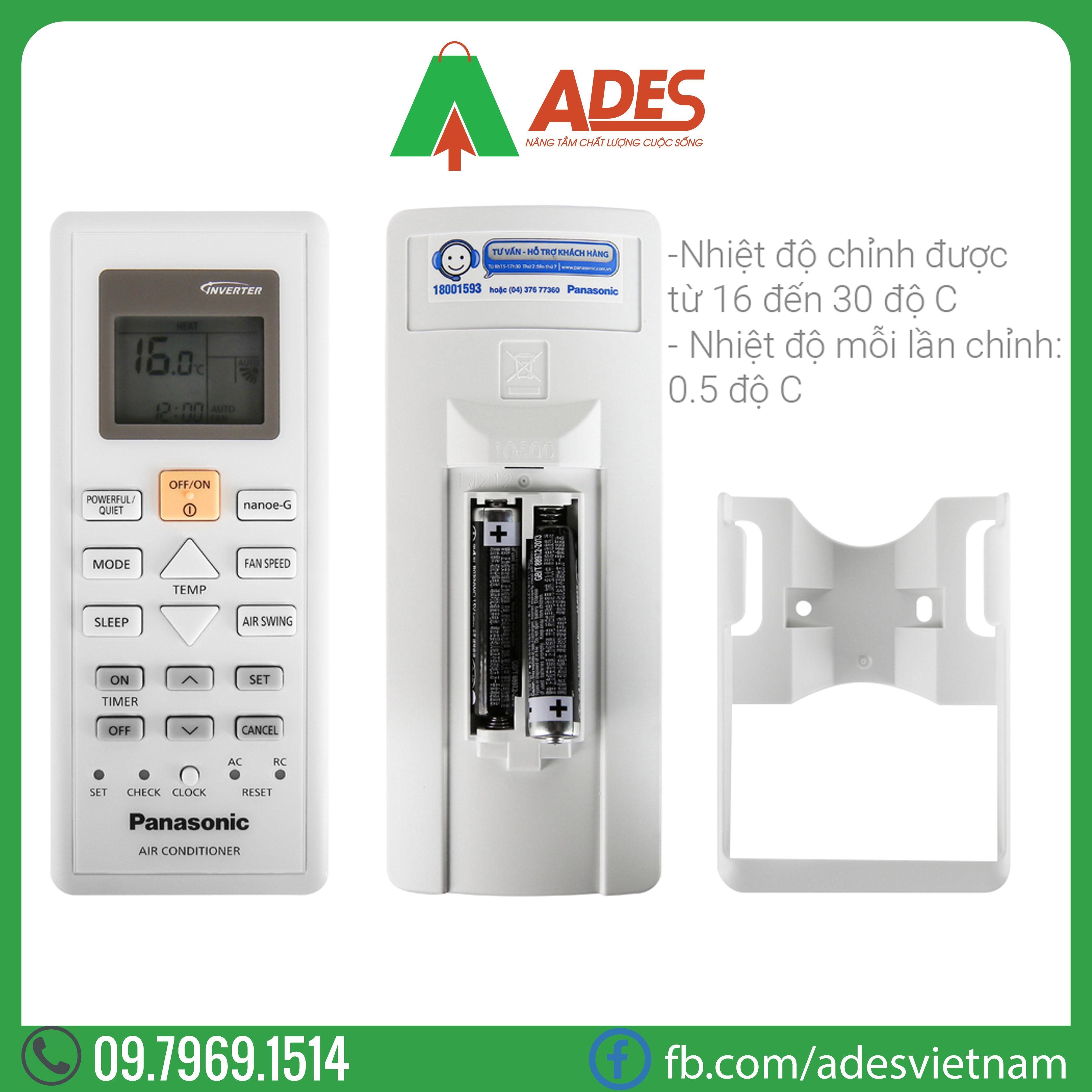 Dieu hoa Panasonic Inverter CU/CS-PU12VKH-8