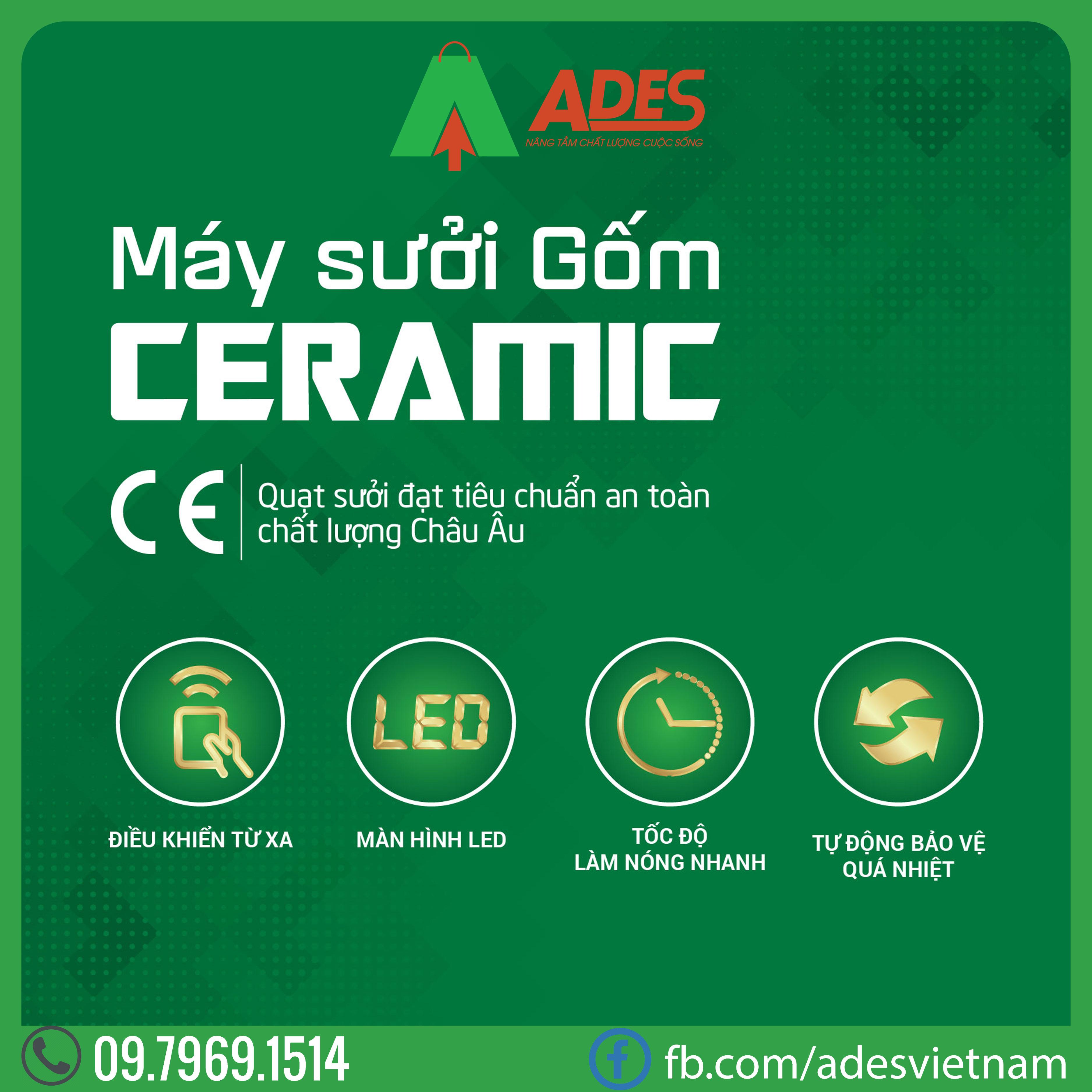 May suoi gom Ceramic Erito HCB18R