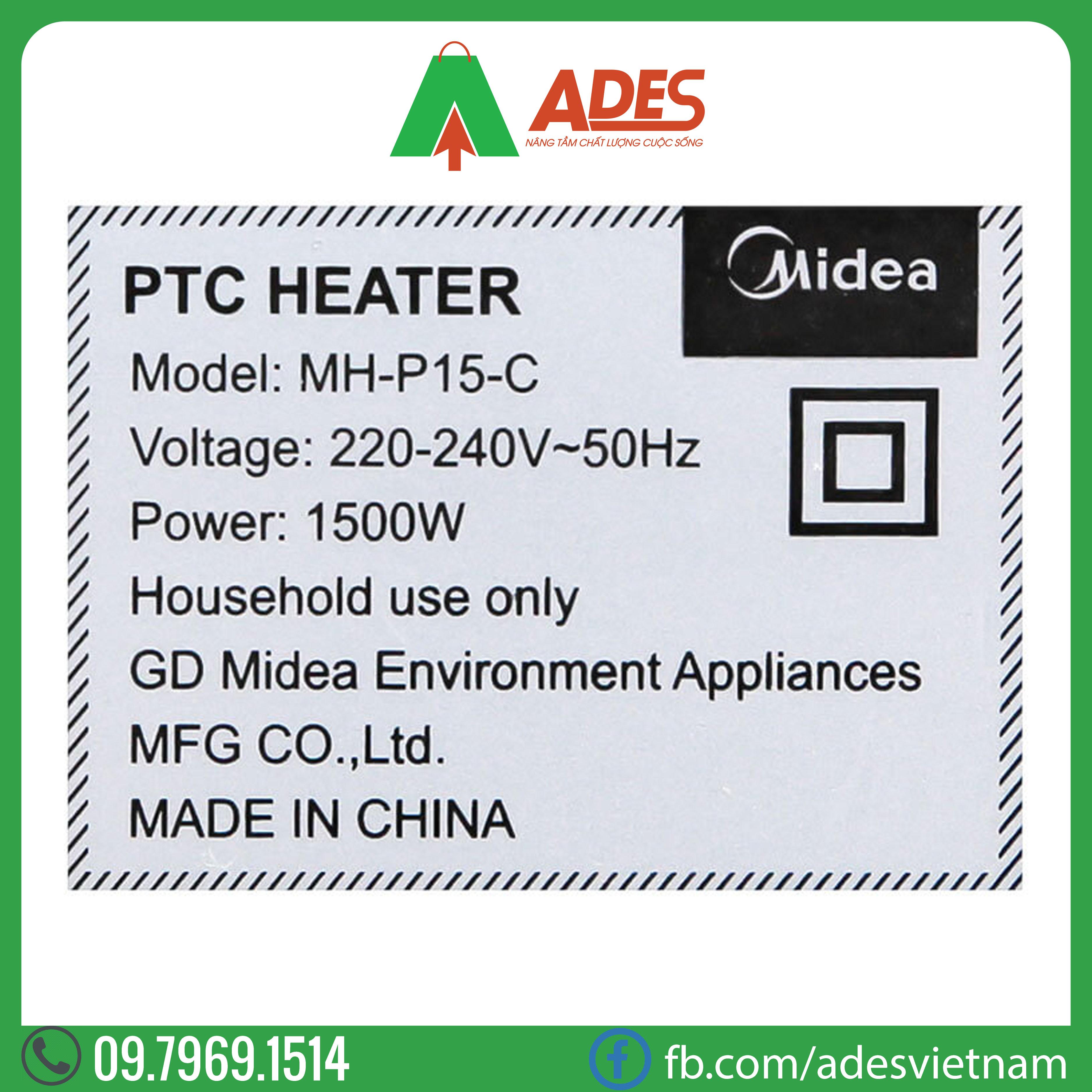 Quat suoi nhiet Midea MH-P15-C