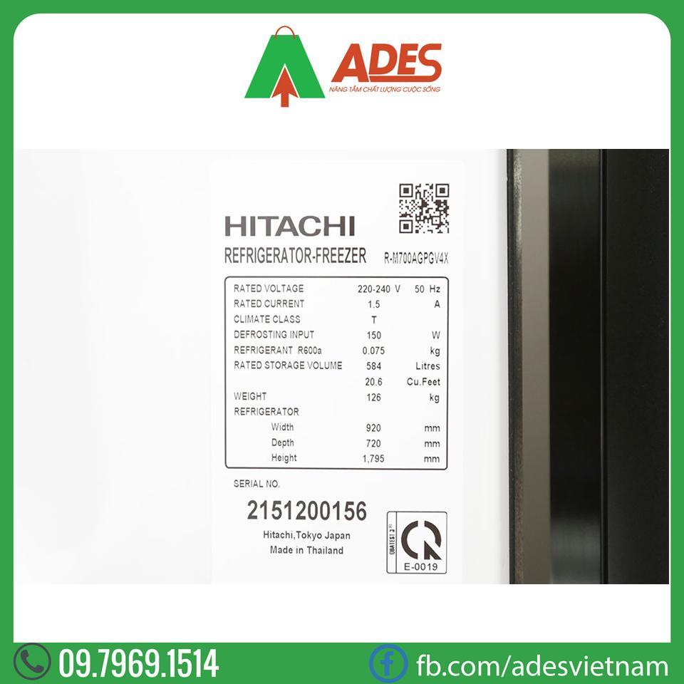 Tu lanh Hitachi Inverter R-M700AGPGV4X
