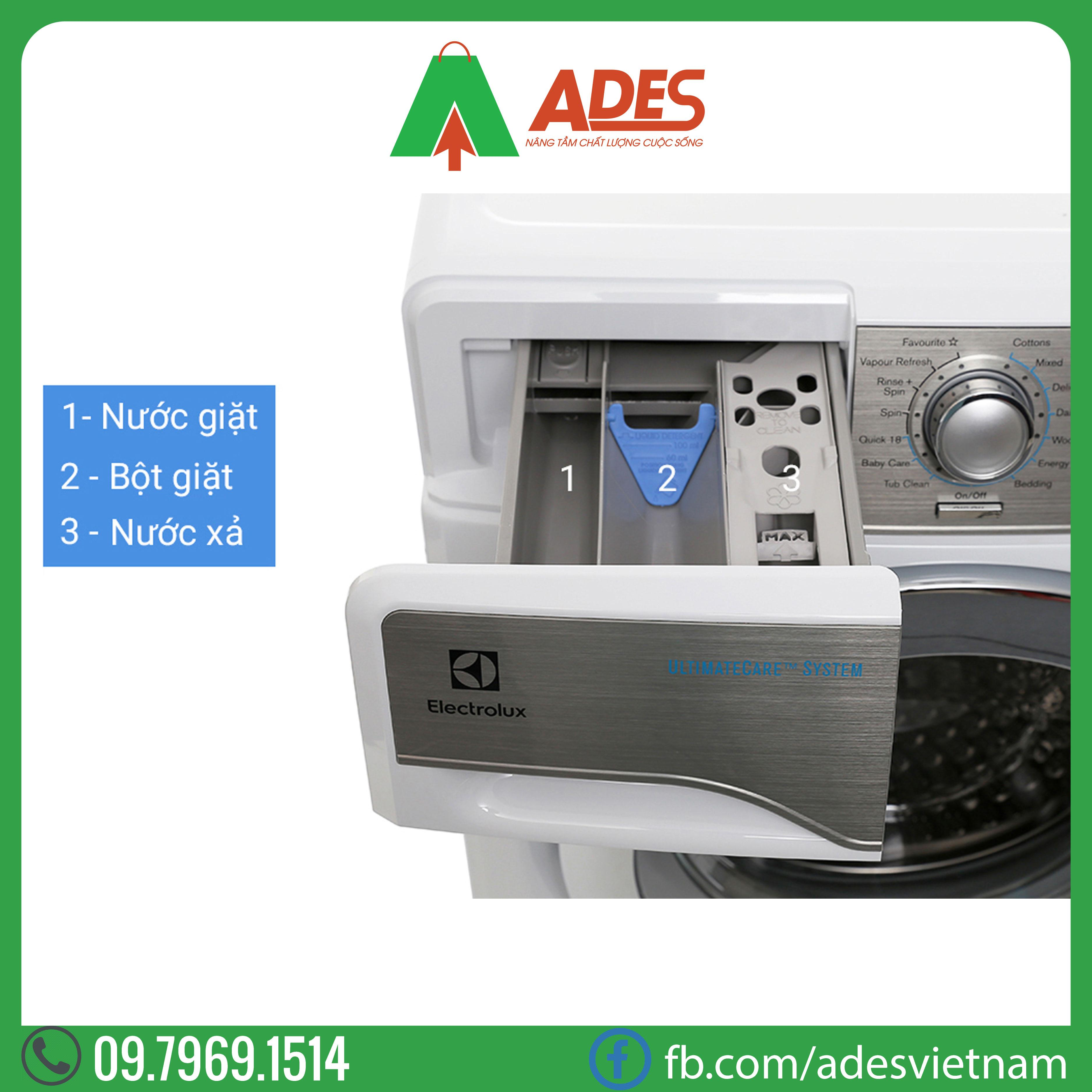 May giat Electrolux Inverter 9 kg EWF12938