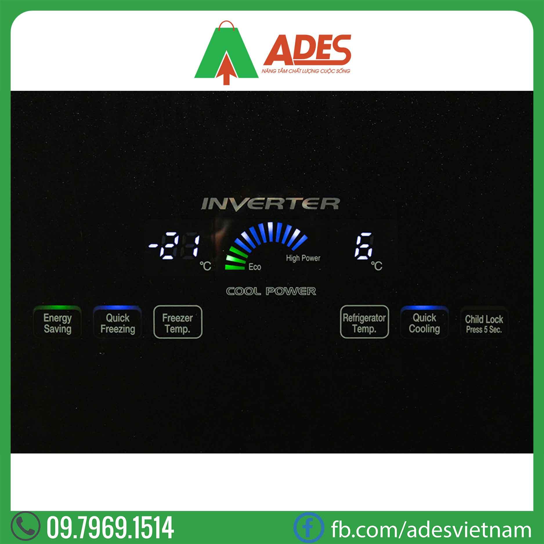 Tu lanh Hitachi Inverter R-WB545PGV2 GBK