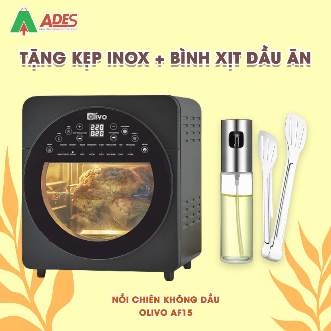 Noi Chien Khong Dau OLIVO AF 15 tang kep inox