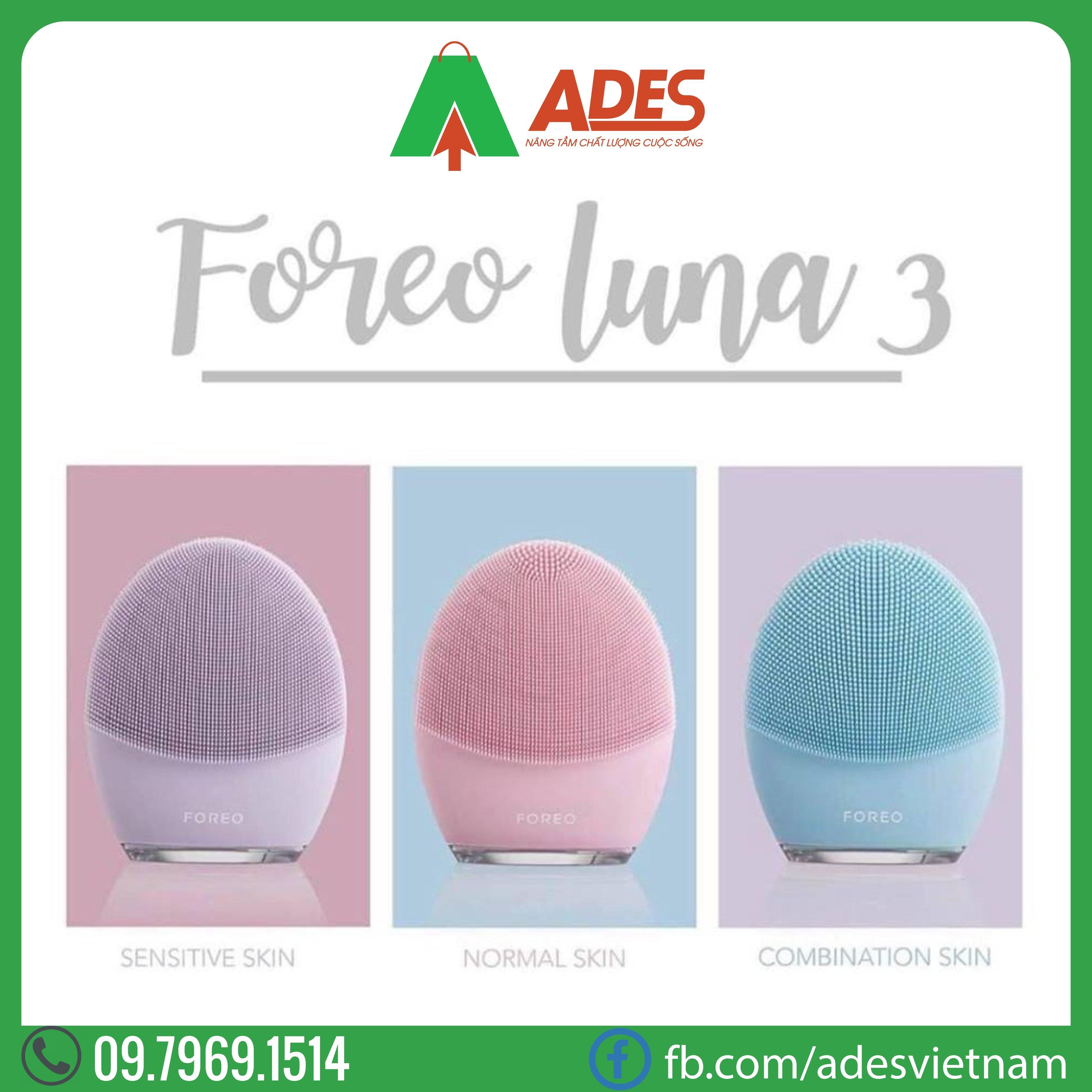 may rua mat Foreo Luna 3