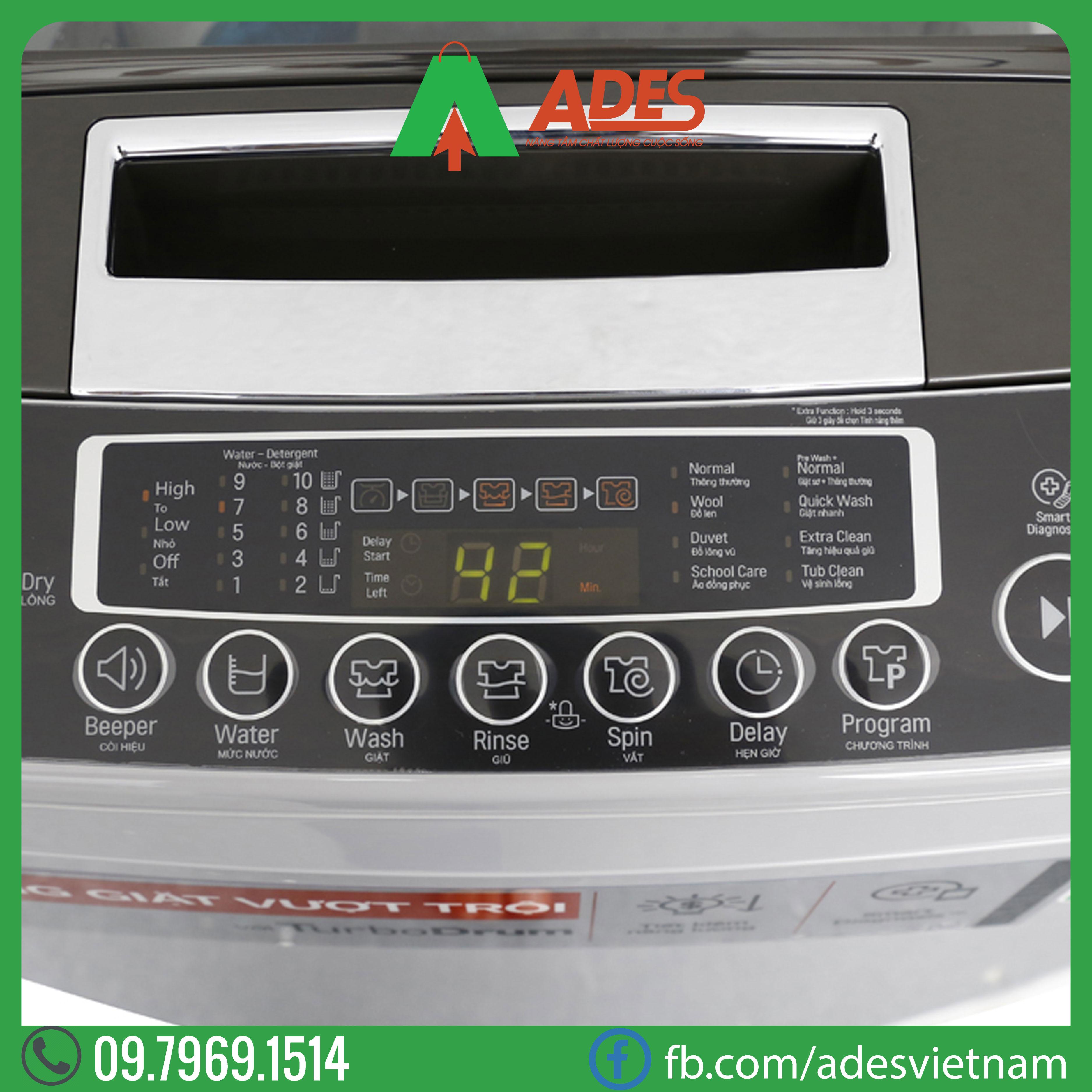 May giat LG Inverter 8 kg T2108VSPM