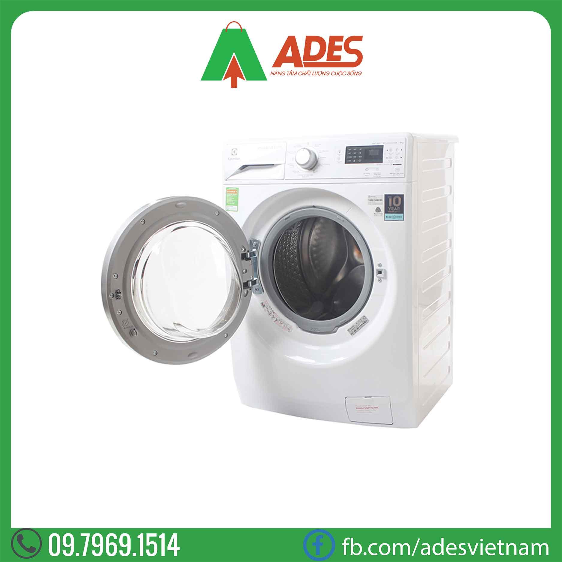 May giat Electrolux Inverter 8 Kg EWF12853