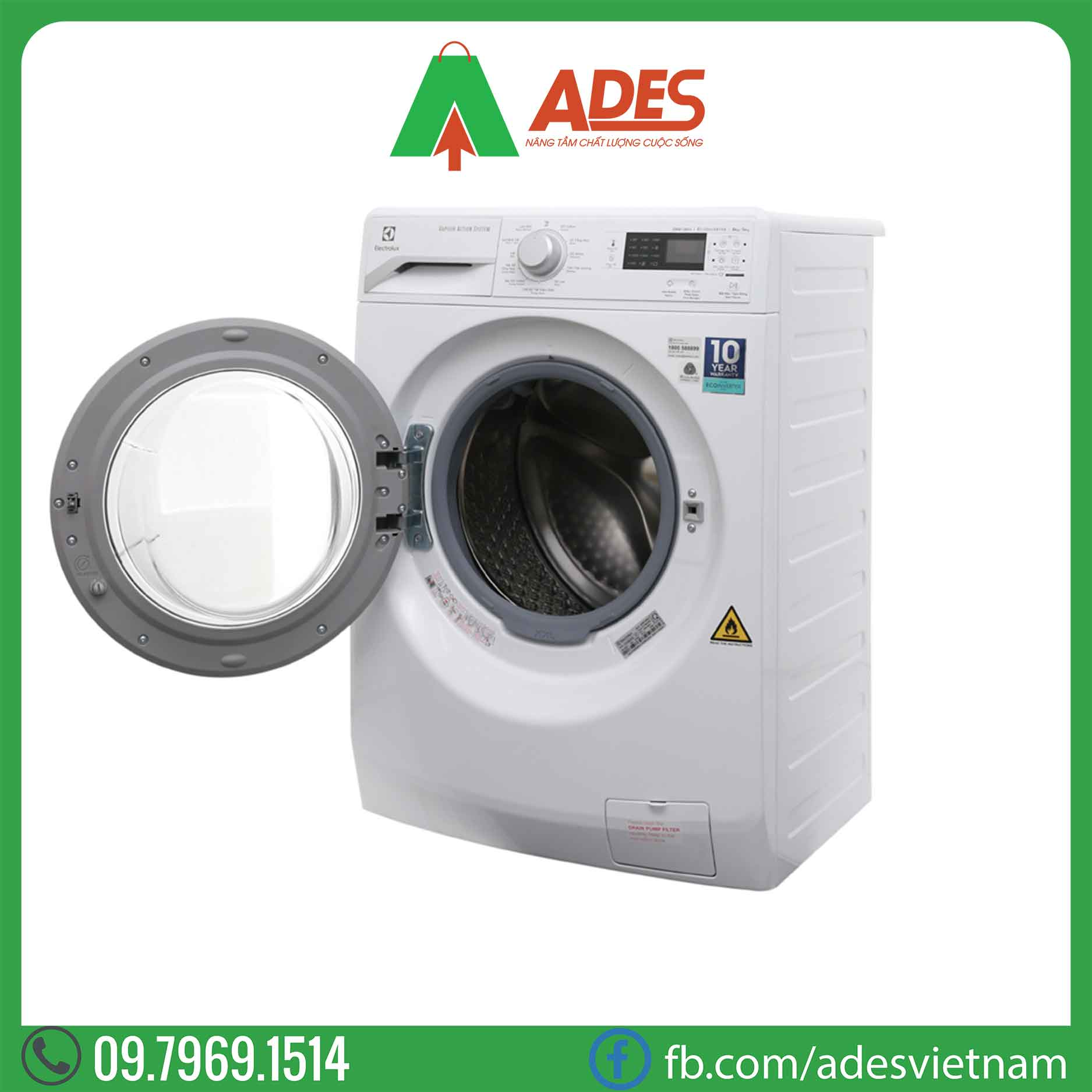May giat say Electrolux Inveter 8kg EWW12853
